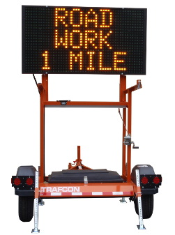 Portable Changeable Message Sign - Trailer Mount
